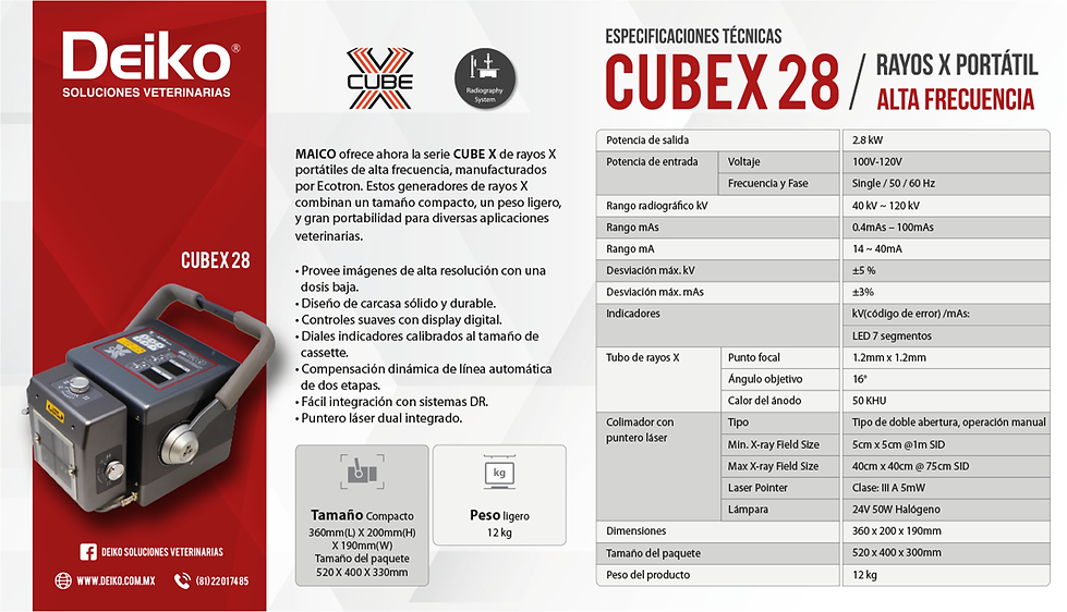 LandinPage DEIKO Ficha Tecnica Cubex 28.