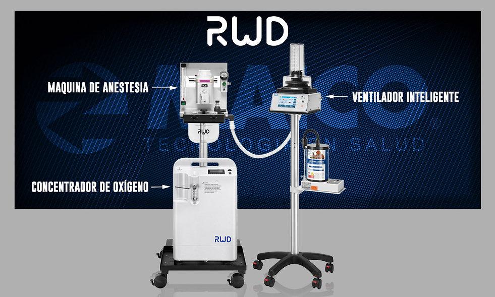 RWD maq anestesia concentrador y ventila