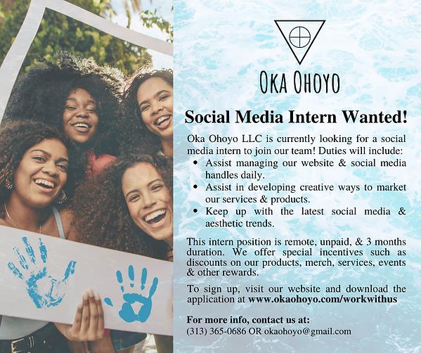 Copy of Oka Ohoyo Social Media Intern Ad