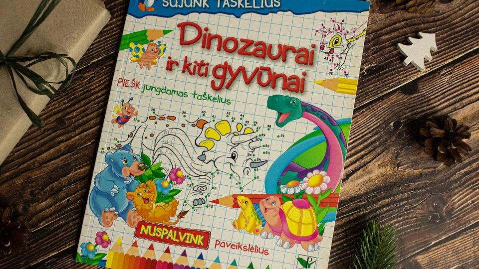 "Užduočių knygutė ""Sujunk taškus. Dinozaurai ir kt. gyvūnai"" 1 vnt."