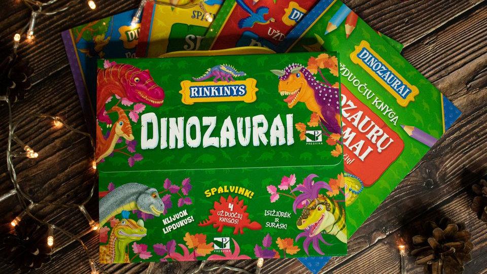 """Užduočių rinkinys lagaminėlyje """"Dinozaurai"""""""