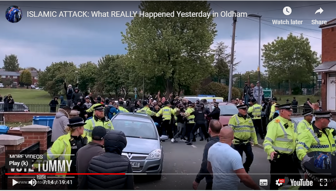 POLICE FACILITATE ATTACK ON TOMMY ROBINSON RALLY (ONE INCLUDING WOMEN AND SMALL CHILDREN)