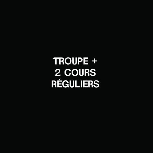 J- TROUPE + 2 cours réguliers