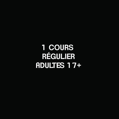 E- 1 COURS RÉGULIER Adultes 17+
