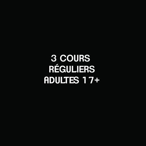 G- 3 COURS RÉGULIERS Adultes 17+