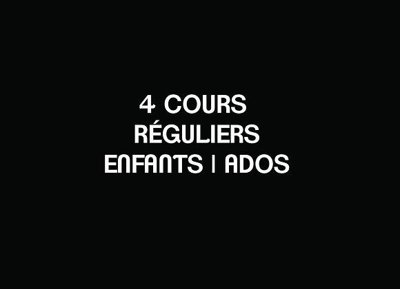 D- 4 COURS RÉGULIERS Enfants   Ados