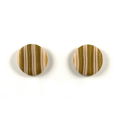 'Golden Sands' Polymer Clay Studs