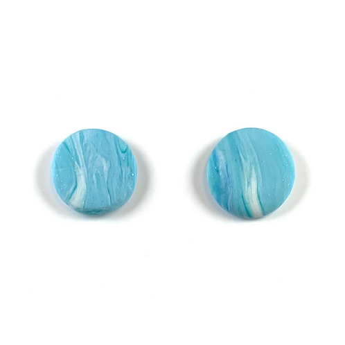 'Crystal Waters' Polymer Clay Studs