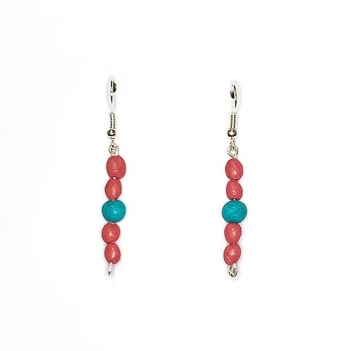'Coral Coast' Drop Earrings