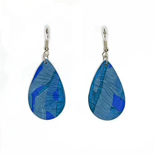 'Deep Waters' Drop Earrings