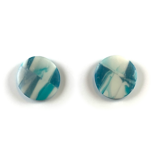 'Cooler Waters' Polymer Clay Studs