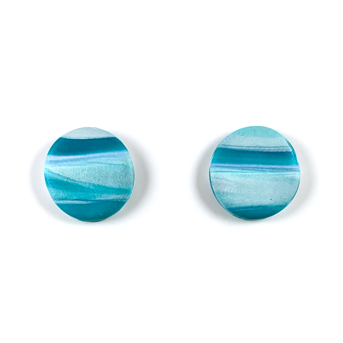 'Warm Waters' Polymer Clay Studs
