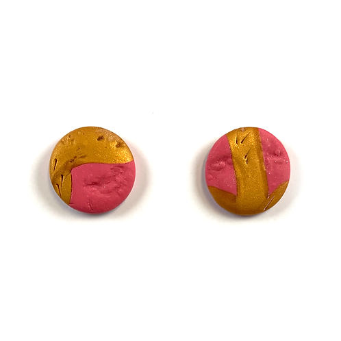 'Summer Sunsets' Polymer Clay Studs
