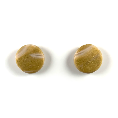 'Golden Sands' Polymer Clay Studs
