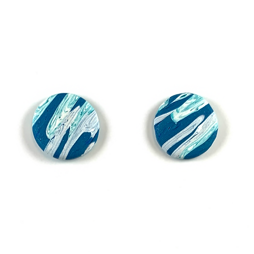 'Cool Waters' Polymer Clay Studs