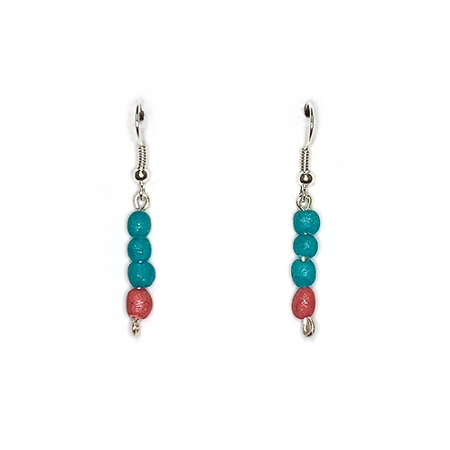 'Coral Coast' Drop Earrings