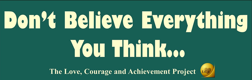 Don's Believe Everything You Think Bumper Magnet