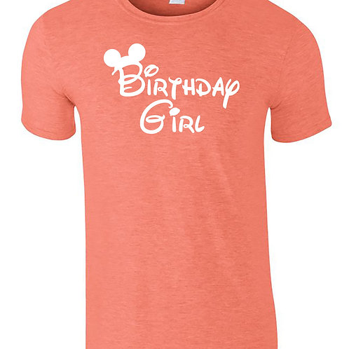 Birthday Girl Disney Holiday Vacation Adults T-Shirt