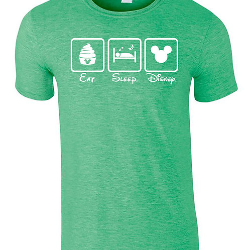 EAT SLEEP DISNEY T-Shirt Family Vacation Matching Adults T-Shirts