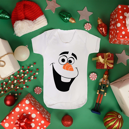 Baby's First Christmas OLAF Face Snow Man Vest 2018 Present Gift