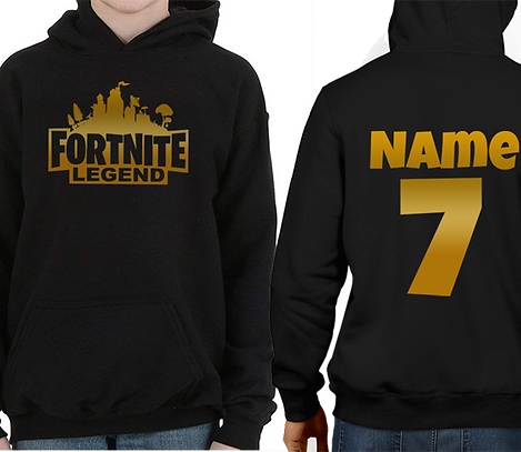 Boys & Girls Personalized Hoodie Xbox PlayStation Gaming Battle Royale Christmas