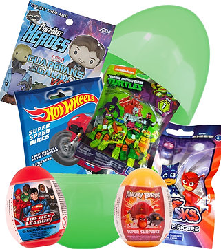 Boys Deluxe Filled Surprise Easter Egg Fun Toys Mystery Bags & Eggs Gift