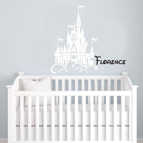 Floating Castle Wall Sticker Personalized