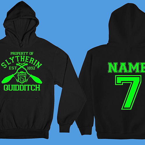 Kids Property Of SLYTHERIN Hoodie Personalized Name & Number Quidditch Team