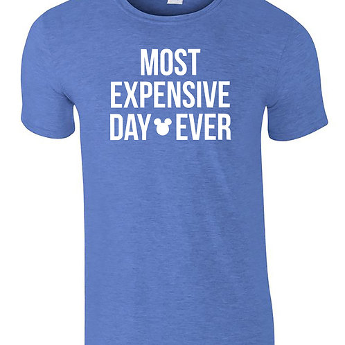 Most Expensive Day Ever Disney T-Shirt Adults Holiday T-Shirts