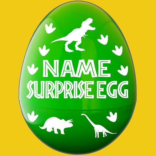 Dinosaur Personalized Giant Plastic Egg Empty