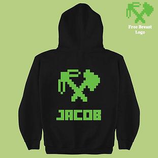 Axe & Pix Popular Mining Game Personalized Kids Hoodie Birthday Present Gift