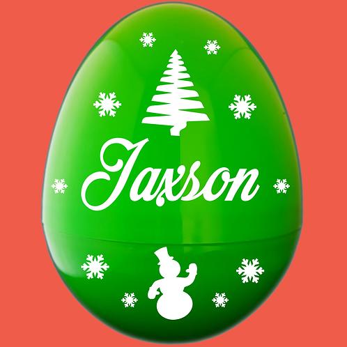 Christmas Personalized Giant Plastic Egg Empty