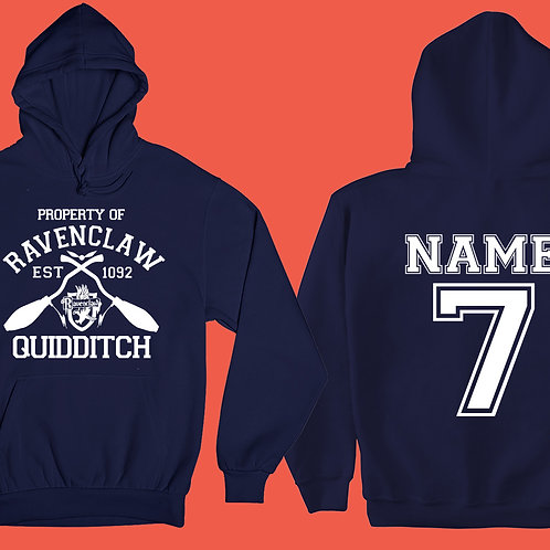 Kids Property Of RAVENCLAW Hoodie Personalized Name & Number Quiddit