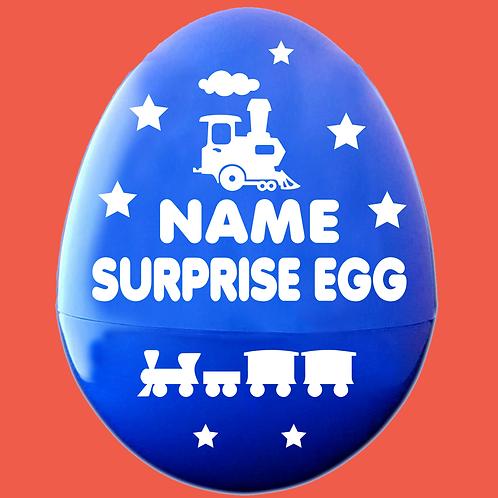 Steam Train Personalized Empty Giant Plastic Egg