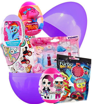 Girls Large Surprise Egg Filled With Cute Toys Mystery Bag & Eggs Easter Gift