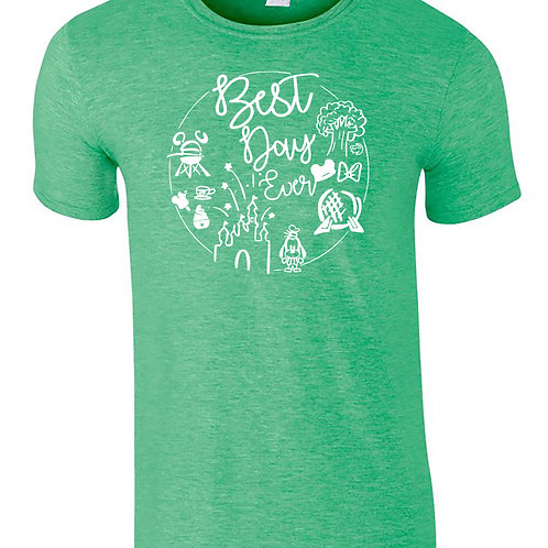 The Best Day Ever All Parks Adults Disney Holiday T-Shirt