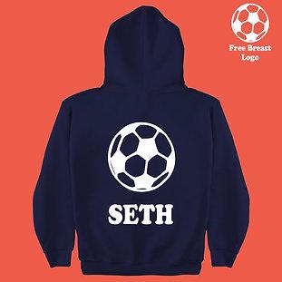 Football Silhouette Boys & Girls Personalized Hoodie Birthday Present Gift