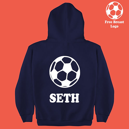 Football Silhouette Boys & Girls Personalized Hoodie Birthday Present Gift