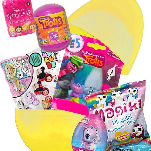Girls Deluxe Filled Easter Egg Cute Toys Mystery Bags & Surprise Eggs Gift
