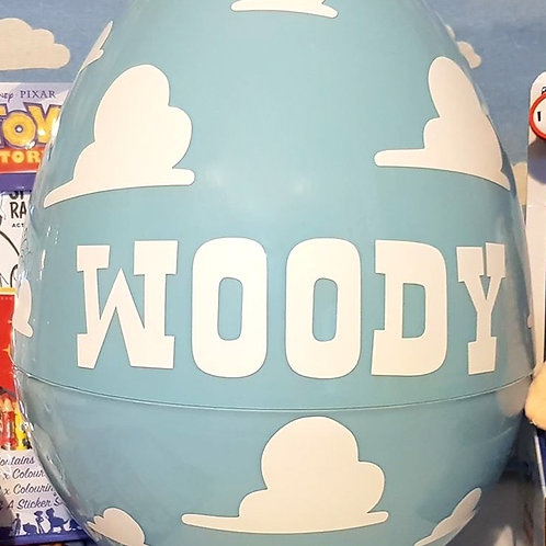 Giant 14'' Surprise Egg Empty Only, Personalized With Clouds & Any NAme