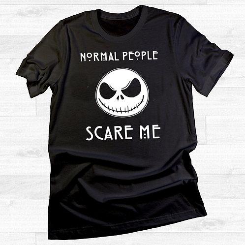 copy of Normal People Scare Me Jack Skellington Halloween T Shirt