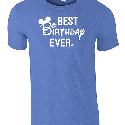Best Birthday Ever Mickey Mouse Disney Themed Adults T-Shirt