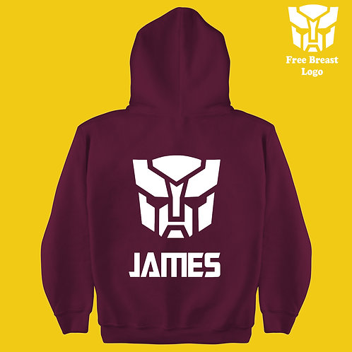 Auto-Bots Transformers Boys & Girls Personalized Hoodie Birthday Present Gift