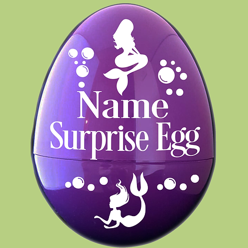 Mermaid Personalized Giant Plastic Egg Empty