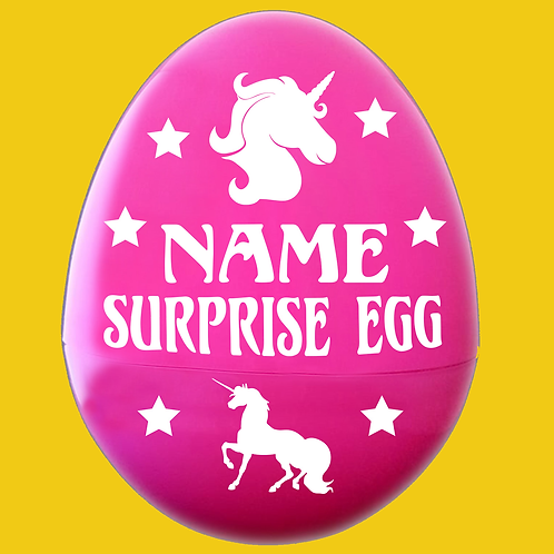 Magic Unicorn Personalized Empty Giant Plastic Egg