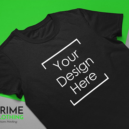 Personalized Printed T-Shirt Customized With Your Logo Simple Design