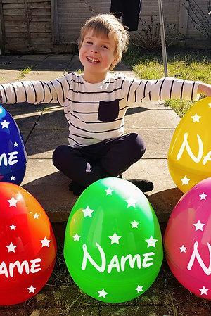 Giant Jumbo Glitter Sparkle & Solid Colour Plastic Egg For Easter & Birthdays