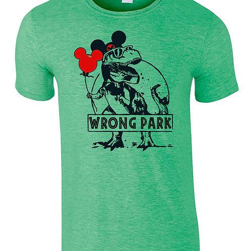 Wrong Park T-Rex Jurassic Park & Disney Mash Up T-Shirt