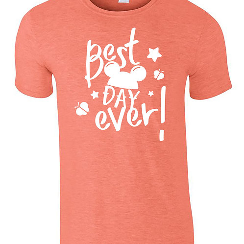 Best Day Ever! T-Shirt Mickey Ears Adults Disney Holiday T-Shirts