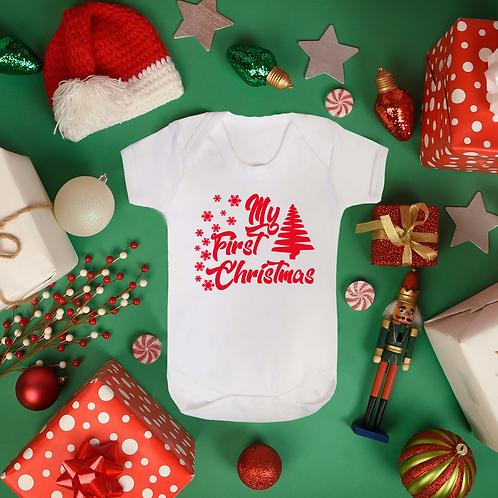My First Christmas 2018 Boys & Girls Baby Vest Heavyweight 100% Soft Cotton
